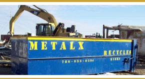 Metalex metal recycling bin